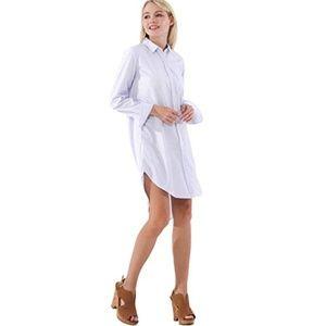 Dresses & Skirts - NWOT Boyfriend Button-down Shirt Dress